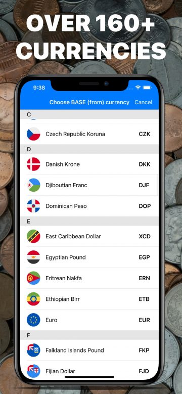 MixCoin - Currency Converter app for iPhone