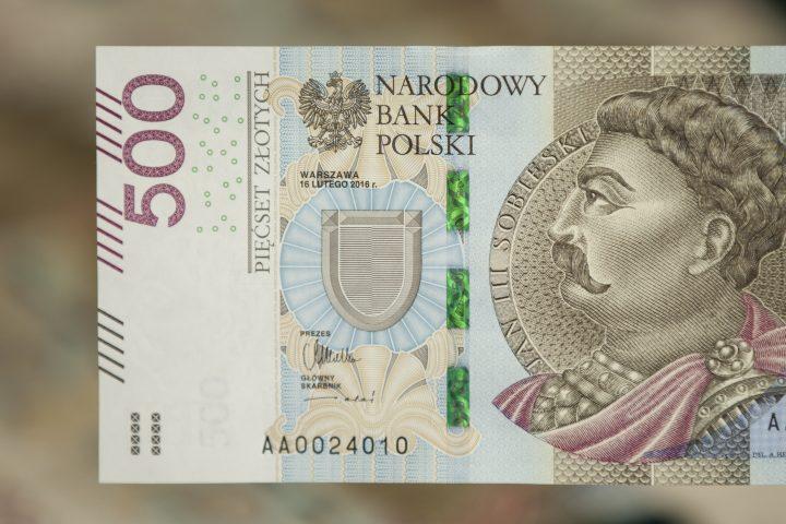 500 zl (PLN) banknote