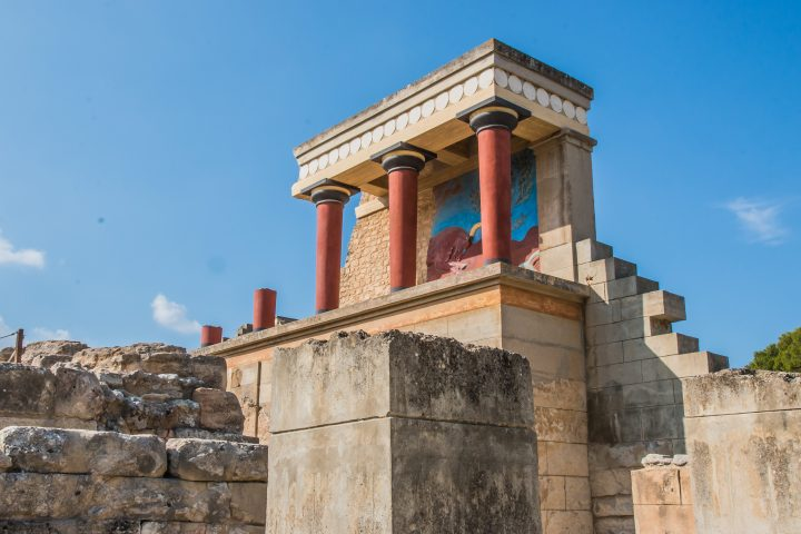 Knossos ruins in Heraklion, Crete